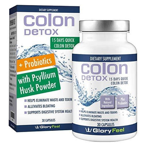 15 Day Quick Colon Cleanse Detox with Probiotics for Constipation Relief Supplements for Women and Men