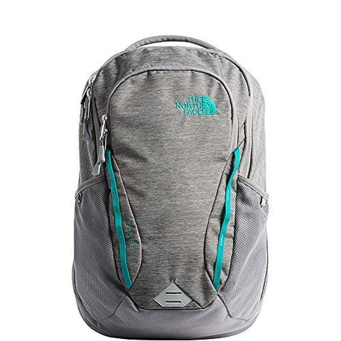 The North Face Women's Women's Vault Backpack Zinc Grey Light Heather/Kokomo Green One Size
