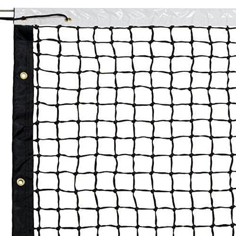 42' Tennis Net & Winch Cable with Carry Bag – Full Size Replacement Net for Indoor & Outdoor Tennis Courts by Crown Sporting Goods