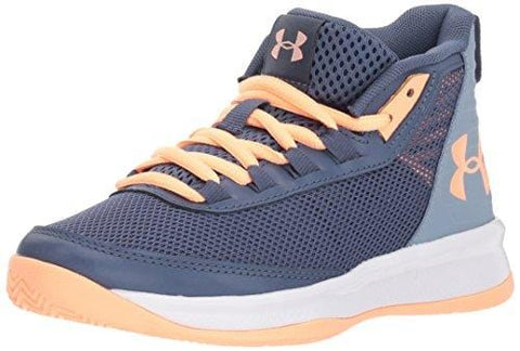 Under Armour Girls' Pre School Jet 2018 Basketball Shoe, Utility (500)/Washed Blue, 2.5