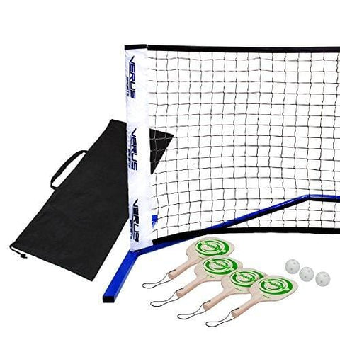 Verus Sports TG425 Professional Portable Pickle Ball Net Set with Paddles & Balls, Blue
