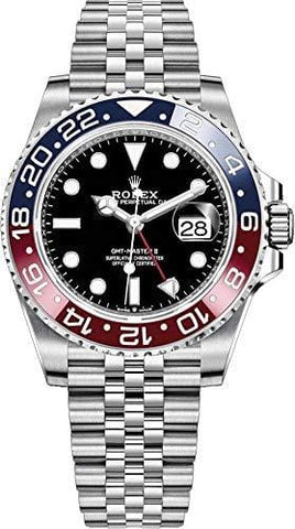 "Rolex GMT-Master II""Pepsi"" Men's Luxury Watch 126710BLRO"