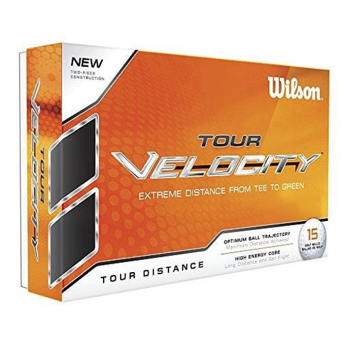 Wilson Tour Velocity Golf Ball (15-Pack), Distance