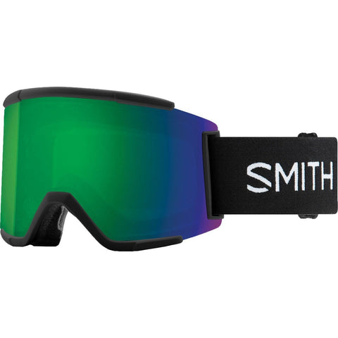 Smith Optics Squad Xl Adult Snow Goggles - Black/Chromapop Sun Green Mirror/One Size