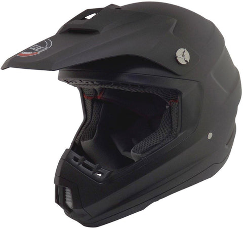 Core Helmets MX-1 Off-Road Helmet (Flat Black, Medium)
