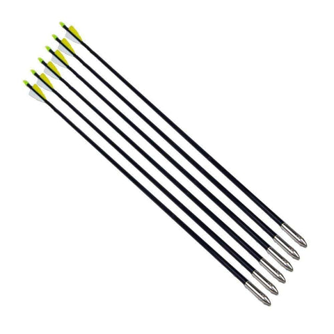 12 Pack 30 Inch Fiberglass Archery Arrows Hunting and Target Practice Arrows for Compound Bow and Recurve Bow