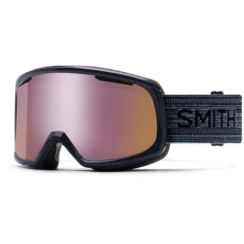 Smith Optics Riot Adult Snowmobile Goggles - Metallic Ink/Chromapop Everyday Rose Gold Mirror/One Size