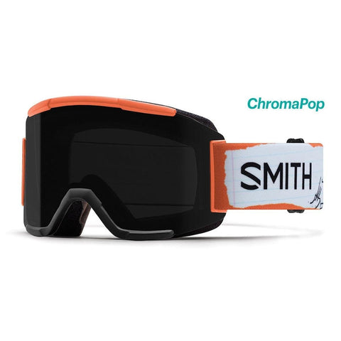Smith Optics Adult Squad Snow Goggles,Stevens AC Frame/ChromaPop Sun Black/Yellow