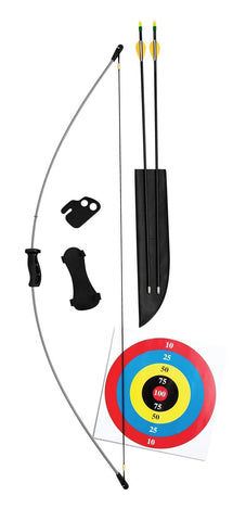 Bear Archery Wizard Youth Bow Set , Gray , One Size
