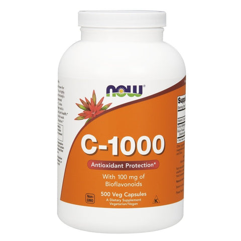 Now Supplements, Vitamin C-1,000 with 100 mg of Bioflavonoids, Antioxidant Protection*, 500 Veg Capsules