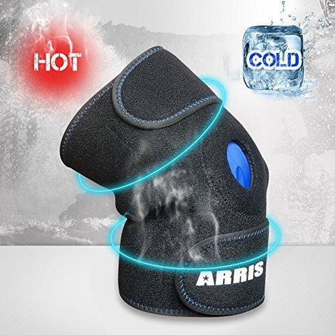 ARRIS Ice Pack for Knee Injuries, Reusable Hot Cold Therapy Knee Wrap Ice Knee Brace for Joint Pain, Bursitis Arthritis Knee Pain Relief, Meniscus Tear, Sprains & Swelling (Flexible and Adjustable)