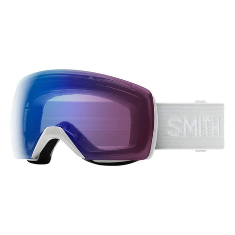 Smith Optics Skyline XL Adult Snowmobile Goggles - White Vapor/Chromapop Photochromic Rose Flash/One Size