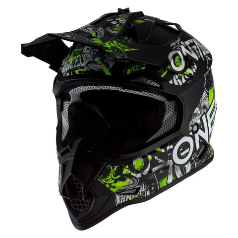 O'Neal 2020 Youth 2 Series Helmet - Attack (Large) (Black/NEON Yellow)