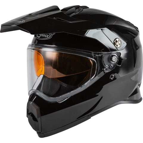 Gmax AT-21S Adventure Adult Snowmobile Helmet - Black/Medium