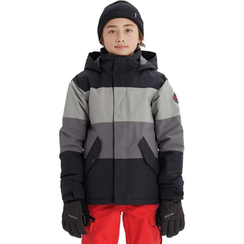Burton Boys' Symbol Jacket, True Black Multi, Small