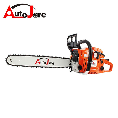 "AUTOJARE Professional Gas Chainsaw, 20"" Bar, 2 Cycle, 52cc, 2 Stroke, Cordless Chainsaw Cutting Wood, Patio, Lawn, Garden Outdoor Power Tools"