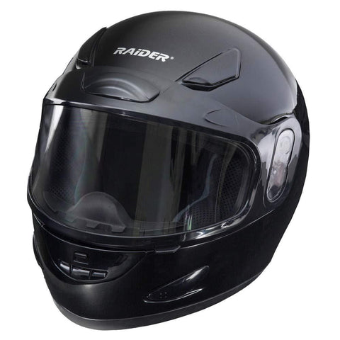 Raider Full-Face Snowmobile Helmet (Black, X-Large)