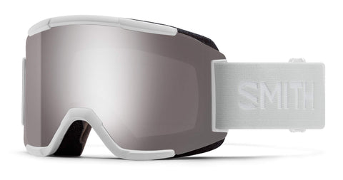 Smith Optics Squad Adult Snowmobile Goggles - White Vapor/Chromapop Sun Platinum Mirror/One Size