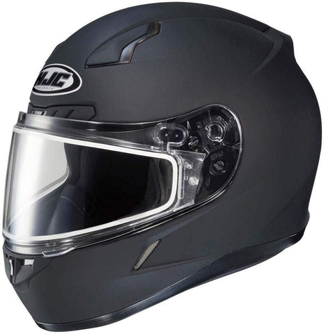 HJC Solid Mens CL-17 Winter Sport Snowmobile Helmet - Matte Black / 5X-Large