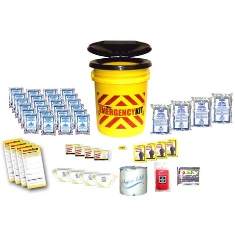 Essential Packs Basic Bucket Emergency Kit (4 Person)