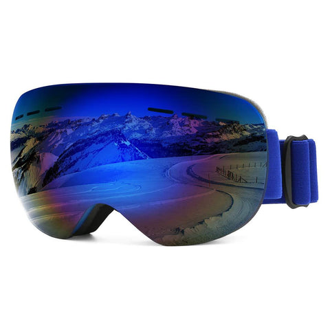 modesoda Ski Goggles for Women Men Over Glasses Ski Snowboard Goggles Anti Fog UV Protection