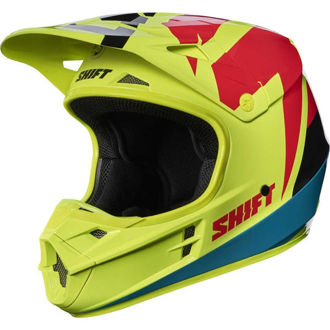 2017 Shift White Label Tarmac Helmet-Flo Yellow-M