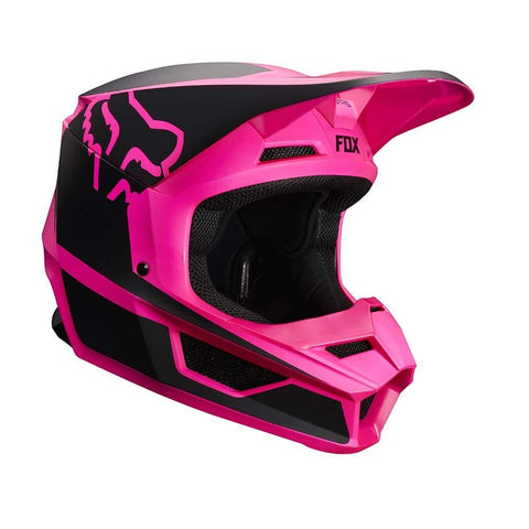 Fox Racing Youth V1 Przm Helmet (S) (Black/Pink)