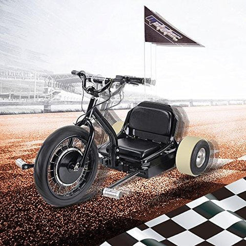 SAY YEAH Electric Drift Go Car 500W 48V Trike Single Rider Funny Toys E Scooter 3 Wheel Crazy Car Flashrider 360 Boys Girls