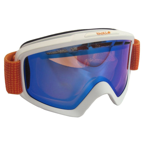 Bolle Nova II Unisex Snow Snowmobile Goggles White And Orange Aurora
