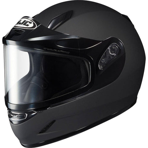HJC Solid Youth Boys CL-Y Sport Racing Snowmobile Helmet - Matte Black/Medium