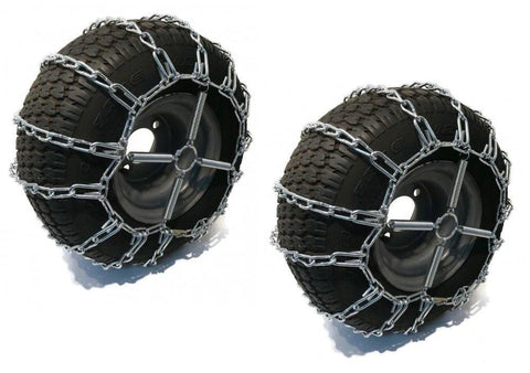 The ROP Shop 2 Link TIRE Chains & TENSIONERS 23x9.5x12 for Garden Tractors Riders Snowblower