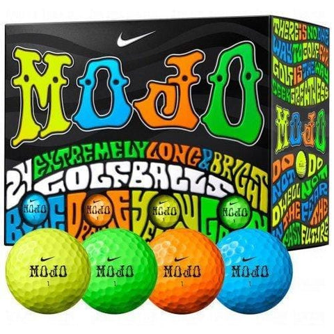 Nike Mojo Golf Balls Multicolored Double Dozen Golf Balls