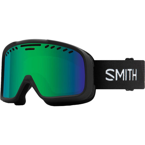 Smith Optics Project - Asian Fit Adult Snow Goggles - Black/Green Sol-X Mirror/One Size