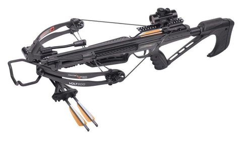 "CenterPoint Volt 300 Compound Crossbow with 3 20"" Carbon Arrows, Compact"