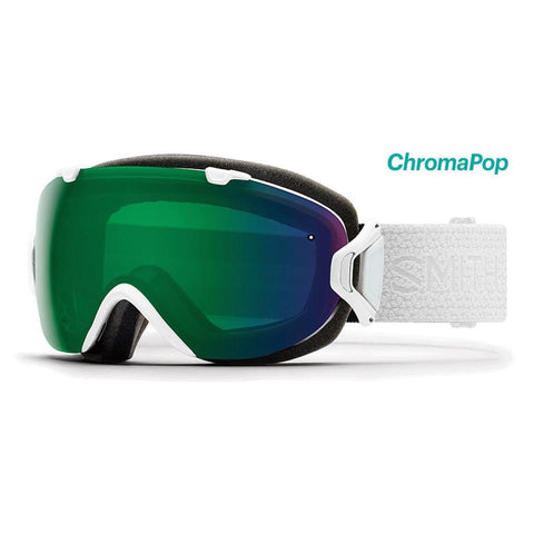 Smith Optics Womens I/OS Snowmobile Goggles White Mosaic/ChromaPop Everyday Green Mirror