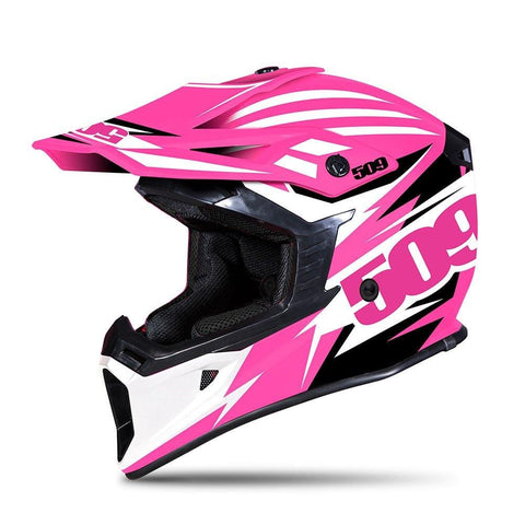 509 Tactical Snow Snowmobile Helmet - Pink - Pink Black & White - 509-HEL-TPI-_