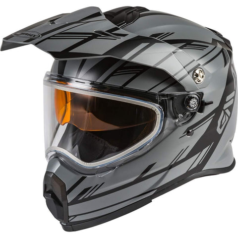Gmax AT-21S Adventure Epic Adult Snowmobile Helmet - Matte Grey/Black/Medium