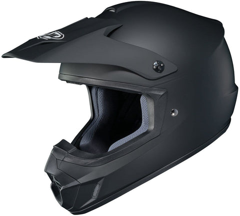 HJC Solid Adult CS-MX 2 Dirt Bike Motorcycle Helmet - Matte Black/Large