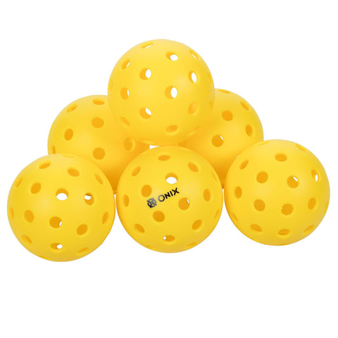 Onix Pure 2 Outdoor Pickleball Balls (6-Pack) Specifically Designed and Optimized for Pickleball [product _type] Onix - Ultra Pickleball - The Pickleball Paddle MegaStore