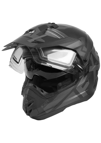 FXR Torque X Evo Snowmobile Helmet with Electric Shield and Sunshade Black Ops 2020 (Black Ops, X-Large)