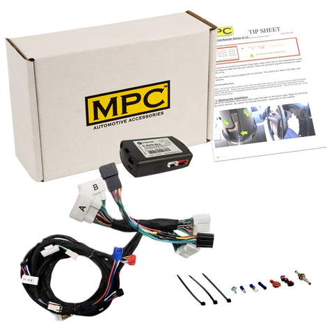 MPC Complete Plug-n-Play Factory Remote Activated Remote Start Kit for 2013-2015 Toyota RAV4 Push-to-Start Only - w/T-Harness. No Need to Carry Extra Key fobs!