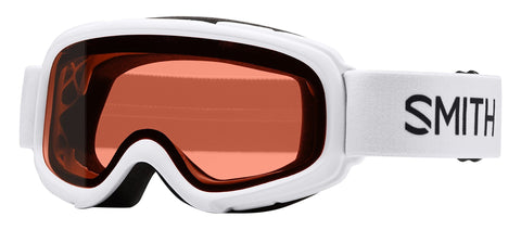 Smith Optics Gambler Goggle (Youth Fit) White Frame/Rc36 Lens One Size
