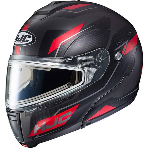 HJC Flow CL-Max 3 Men's Snowmobile Helmet With Electric Shield - MC-1SF / Large