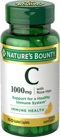 Nature's Bounty Vitamin C 1000 mg w/Rose Hips, 100 Caplets