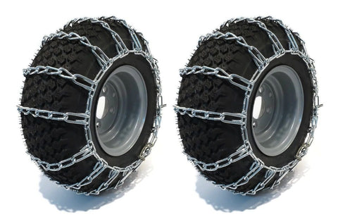 The ROP Shop New Pair 2 Link TIRE Chains 23x9.50x12 for Garden Tractors/Riders/Snowblower