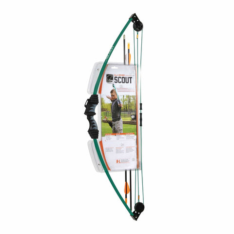 Bear Archery Scout Youth Bow Only - Hunter Green - Recommended for Children 4 to 7 Years Old