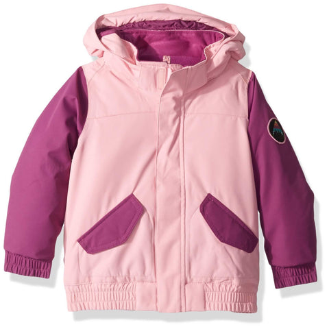 Burton Girls Minishred Whiply Bomber Jacket, Sea Pink/Grapeseed, 4T