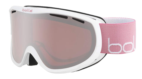 bollé Sierra Snow Goggles Shiny White & Pink Women's Small/Medium