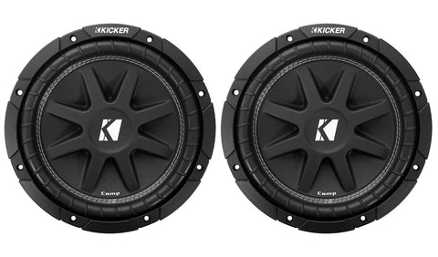 "2) Kicker C104 10"" 300W Comp 4-Ohm Car Audio Subwoofers Subs C10 Pair 