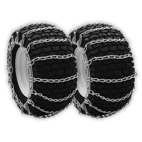 "OakTen Set of Two Snow Tire Chains for Lawn Tractor Snowblowers Repl Cub Cadet MTD Troy Bilt 490-241-0026 (23""x10.50""x12"", 24""x9.50""x12"")"